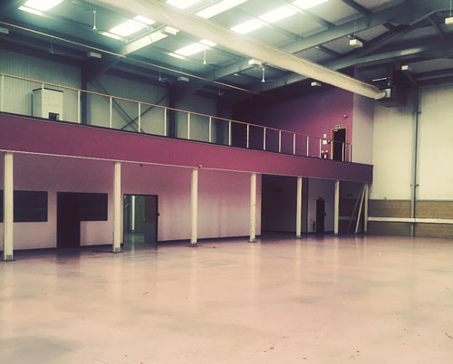 Warehouse refurbishments at Milton Keynes (Before)